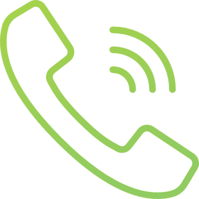 A green icon of phone ringing
