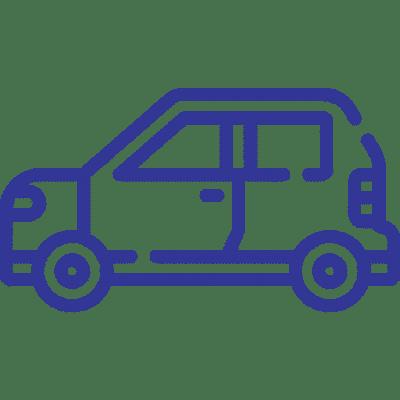 An icon of a blue car